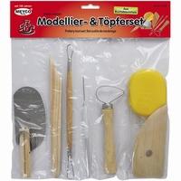 Meyco 14270 Modellier und Topferset/Pottery tool set