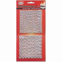 Meyco 36298 Wasletters en cijfers - Zilver (voor op kaarsen)