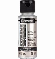 DecoArt metallic acrylverf DPM07 Extreme Sheen Sterl. Silver