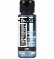 DecoArt metallic acrylverf DPM12 Extreme Sheen Pewter