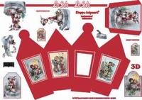 LeSuh 413702 Lantaarnbox/doosje Rood Kerstkinderen