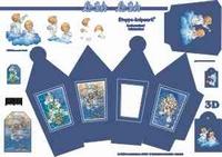 LeSuh 413701 Lantaarnbox/doosje Blauw Kerstengelen