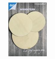 JoyCrafts Woodsters 6320/0001 Houten 3 cirkels/rondjes