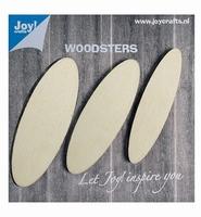 JoyCrafts Woodsters 6320/0002 Houten elipsen setje 3stuks
