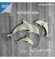 JoyCrafts Woodsters 6320/0006 Houten Dolfijnen in 3 maten