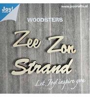 JoyCrafts Woodsters 6320/0007 Houten woorden, Zon Zee Strand