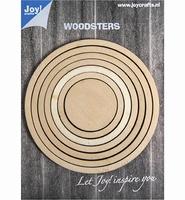 JoyCrafts Woodsters 6320/0011 Houten open cirkels