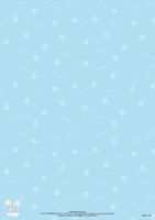 BASISSW28 S.W.A.L.k. Achtergrondvel blauw/witte bloemetjes A4 1 vel