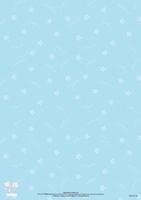 BASISSW28 S.W.A.L.k. Achtergrondvel blauw/witte bloemetjes