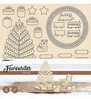 Studio Light Plywood DIY set PWSL12 Christmas Tree and Train