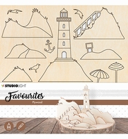 Studio Light Plywood DIY set PWSL06 Lighthouse scenery 06