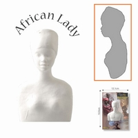 African Collection art.0092 Lady volle vorm 11cm