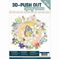 3D-Push Out boek 3DPO10014 Spring Flowers