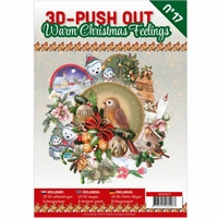 UITVERKC3D-Push out boek 17 Warm Christmas Feelings3DPO10017