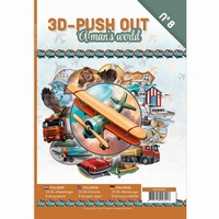 3D-Push Out boek 3DPO10008 A man's world