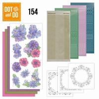 DOT and Do set 154 Pink en Purple Flowers