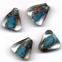 Glaskraal handmade Driehoek Transp. Lt.Turquoise 11809-1301 4 stuks