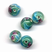 Glaskralen handmade Lichtblauw 11809-1504 12mm 5stuks