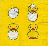 Servet: Dick Bruna kuikens uit ei klein OP=OP