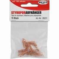 Meyco 28231 Styropor ophangveertjes metaal 15stuks