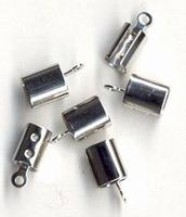 Veterklem/eindstuk zilverkleurig 6 stuks H&C Fun 11808-1701 7 mm
