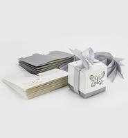 H&C Fun 12362-6211 Bedankdoosjes Butterfly Wit/Zilver+lint