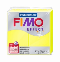 Fimo Soft 101 effect Neon Geel
