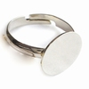 Ring met plateau 18mm 5 stuks JUD352-A