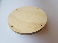 Craftemotions Macrame plank  815000/1001 Rond 20cm