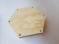 Craftemotions Macrame plank  815000/1005 Zeshoek 21cm