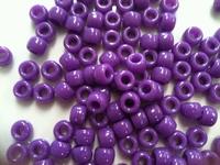 Pony beads 9mm Paars ca. 90 stuks 20gram