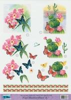 Top Butterflies nr.4 - 3DA4-TB004 Vlinders en bloemen