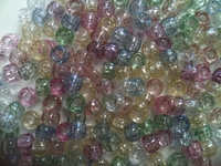 Pony beads 9mm Glitter transp. multi color ca.90 stuks 20gram