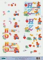 Top Wishes nr.1 - 3DA4-TW001 Geboorte Hoera een zoon/dochter