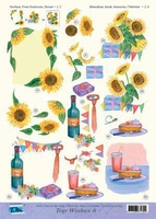 Top Wishes nr.6 - 3DA4-TW006 Feest, wijn, stropdas,zonneblo