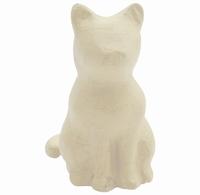 Decopatch SA214C Papier-mache Zittend Katje circa 15cm