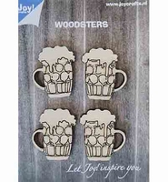 JoyCrafts Woodsters 6320/0017 Houten Bierpullen