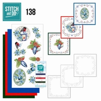 Stitch and Do 138 Jeanine's Art Christmas Flowers en Lantern