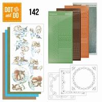 DOT and DO set 142 Winter Woodland DODO142 konijn/eekhoorn