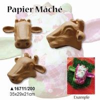 Papier Mache kop Koeienkop 16711-200 33.5x20x22cm