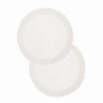 Papieren cupcake vormpjes Wit 100stuks art. 40.01 60x30mm