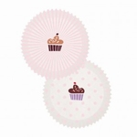 Papieren cupcake vormpjes Rico40.02 Roze-Wit 60stuks