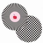 Papieren cupcake vormpjes Zwart-Wit 60stuks art 40.03 60x30mm