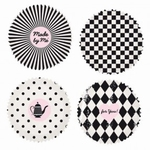 Papieren mini cupcake vormpjes Zwart-Wit 100stuks art.40.07 35x20mm
