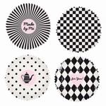 Papieren mini cupcake vormpjes Rico40.07 Zwart-Wit 100stuks