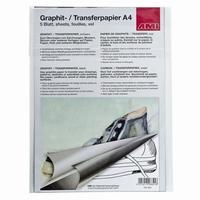 AMI152304 Grafietpapier Zwart 5 vel / A4