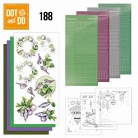 DOT and DO set 188 Purple Christmas Baubles