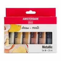 AANB. Amsterdam 17820501 standard acrylverf set 6x20ml Metal