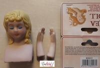 Crea Doll  DH800031 poppensetje hoofd en handjes meisje