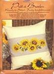 UITVERKOCHT Borduurpakket kussen Zonnebloemen 40 x 40 cm